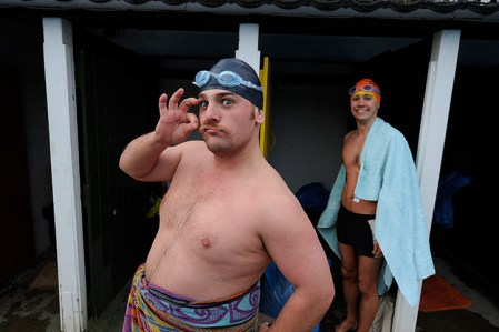 Swimmers brave the UK Cold Water Swimming Championships