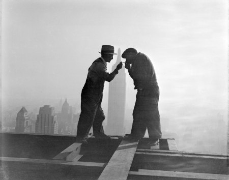 Photos of the construction of the Empire State Building will give you vertigo