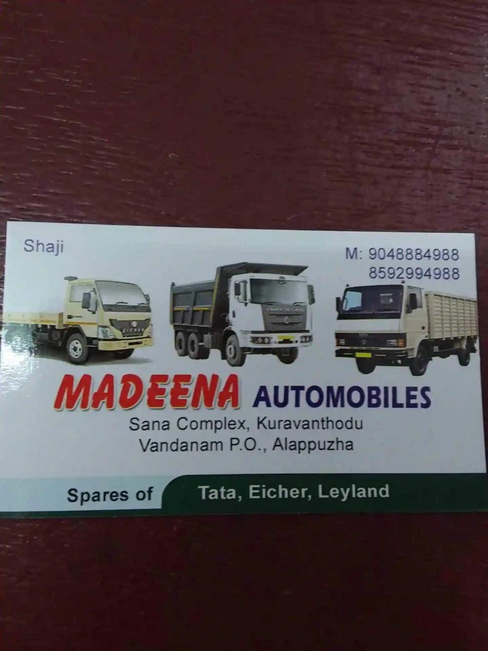 medium resolution of madeena automobiles kakkazhom automobile part dealers in alappuzha justdial