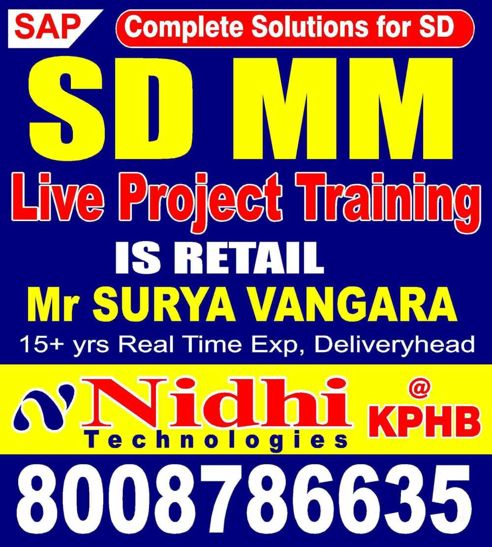 medium resolution of nidhi technologies kphb colony computer training institutes for sap sd in hyderabad justdial