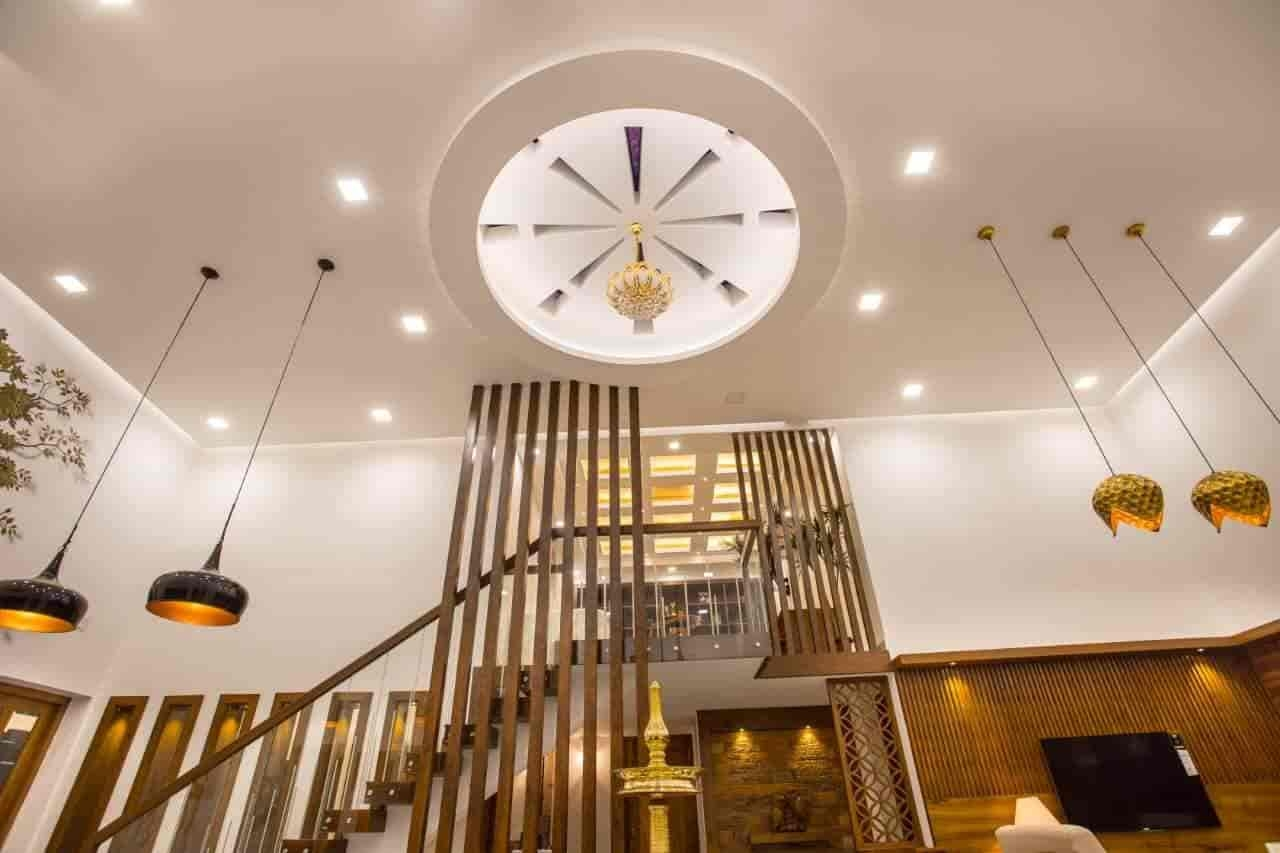 10 Best False Ceiling Contractors In Thrissur Justdial   Staircase False Ceiling Design   High Ceiling   Outside Wall   Interior   Fall Ceiling   Grand