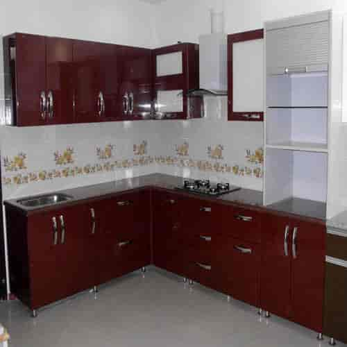 Brown Designer Kitchen Pvc Cupboard Size 8 X 10 Feet At Best Price Brown Designer Kitchen Pvc Cupboard Size 8 X 10 Feet By Vinyl Marketings Interior Exterior Decorator In Erode Justdial