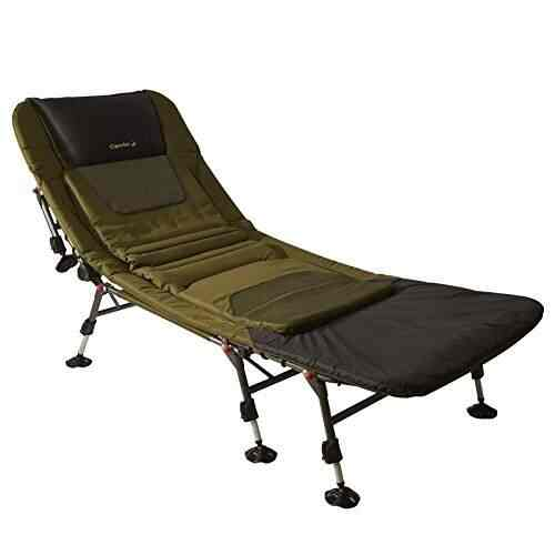 fishing chair bed reviews adjustable vanity buy caperlan wildtrack bedchair carp features