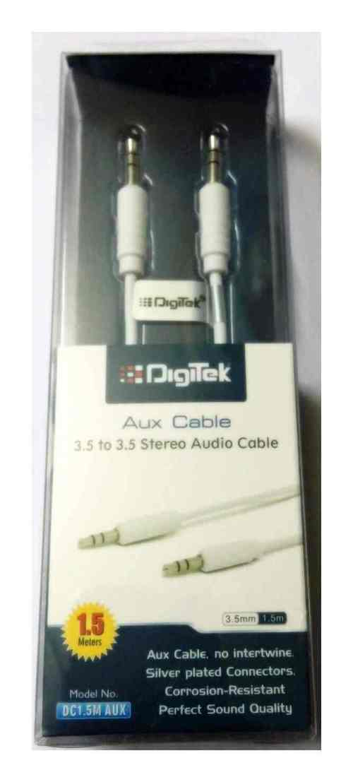 small resolution of digitek aux cable 1 5m dc 1 5m aux colors may vary