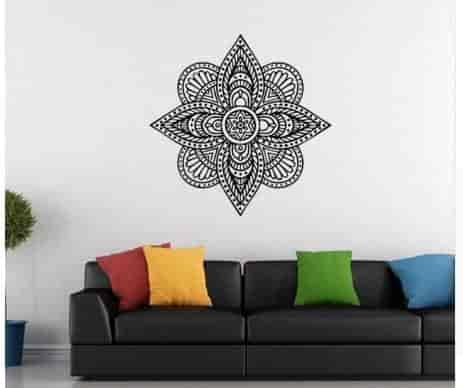 large wall stickers for living room india pics of rooms with sectionals buy new arrival buddhist art sticker mandala home decoration decal colour e features price reviews online in