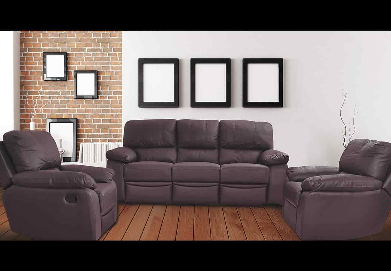 black leather sofa set price in india cheap chesterfield recliner cost baci living room