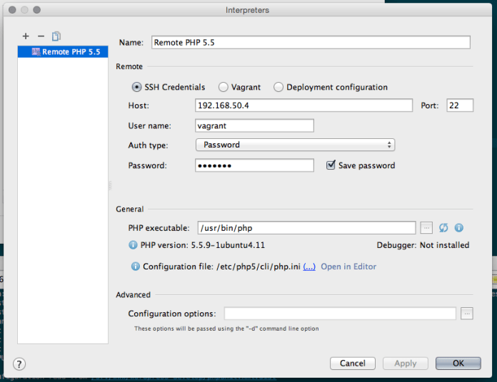 Full SSH configuration