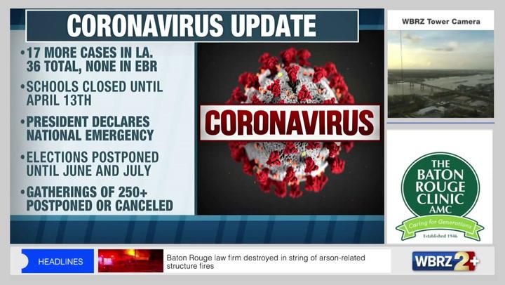 Louisiana reporting 37 coronavirus cases as state shuts down ...