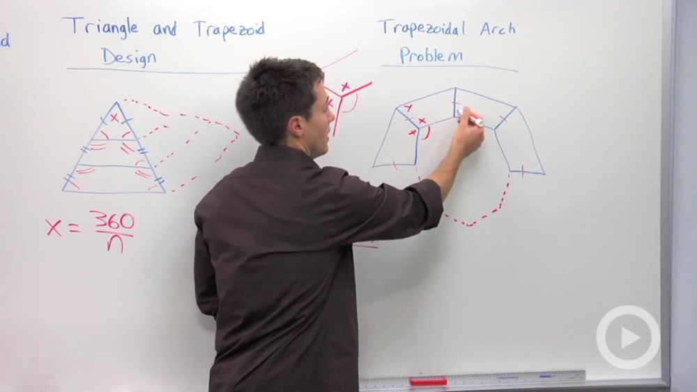 medium resolution of trapezoid arch and panel design problem problem 2 geometry video by brightstorm