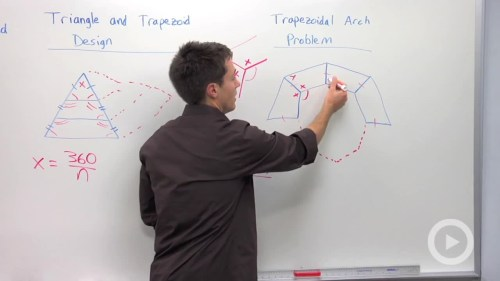 small resolution of trapezoid arch and panel design problem problem 2 geometry video by brightstorm