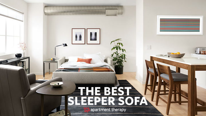 sleeper sofa best foam sofas the beds apartment therapy