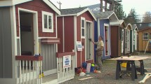 North Seattle Homeless Tiny House Village Open