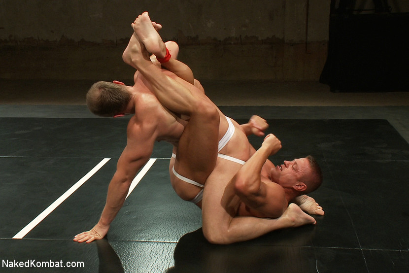 Muscle on Muscle - Tyler Saint takes on Ethan Hudson - Naked Kombat