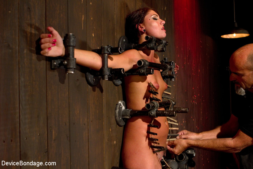 Young slut feels the wrath of inescapable devices while enduring extreme torture - wax