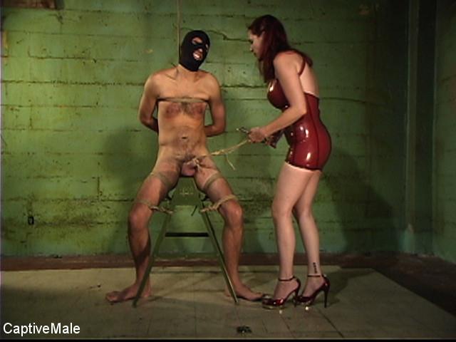 Dick On A Sawhorse - slave