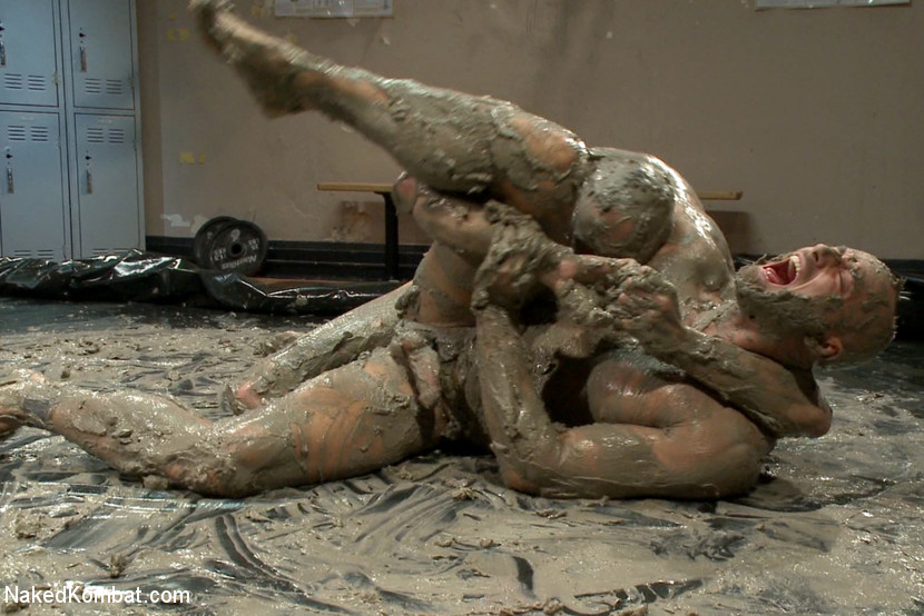 Top Cock: MUD WRESTLING! - Chastity
