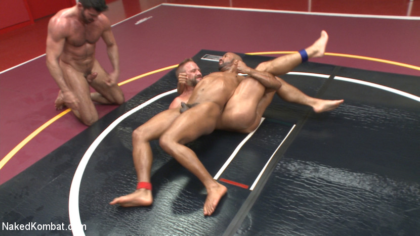 Muscle on Muscle: Live Tag Team Oil Match Between 4 Ripped Hunks! - gay