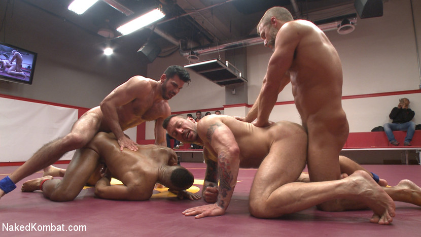 Muscle on Muscle: Live Tag Team Oil Match Between 4 Ripped Hunks! - blowjob