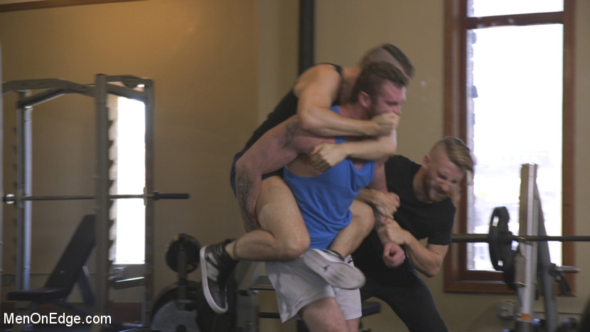 Ginger Muscle God Tormented and Edged in Bondage - muscle