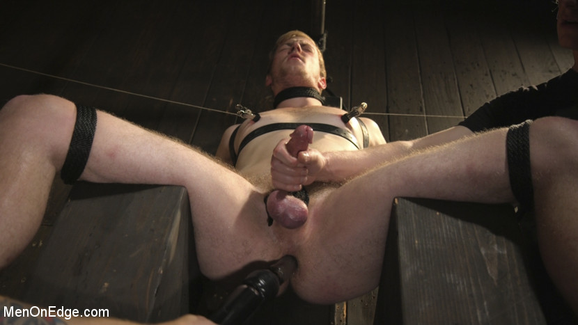 Edging the Captive Straight Boy - straight