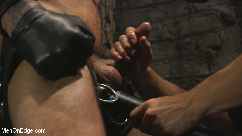 Leather Hunk Edged in Chains - fucksaw