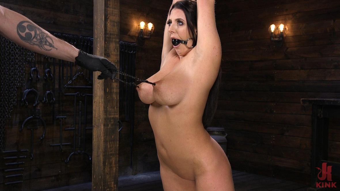Первое время Анджела Уайт в Brutal кабалы и измученный - Hogtied