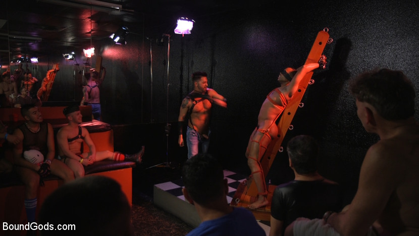 New meat Alson Caramel fisted and fucked for HustlaBall! - bondage
