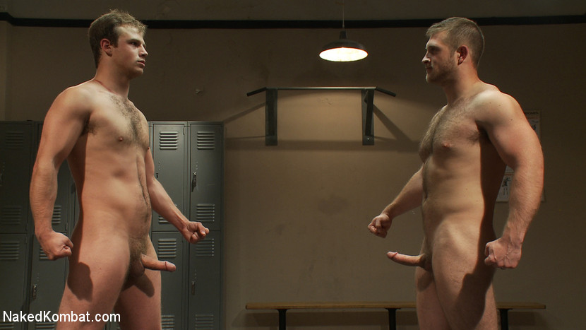 Muscled hunks duke it out in the gym, loser takes it in the ass! - humiliation