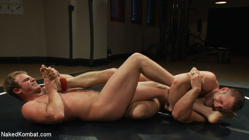 Muscled hunks duke it out in the gym, loser takes it in the ass! - gay