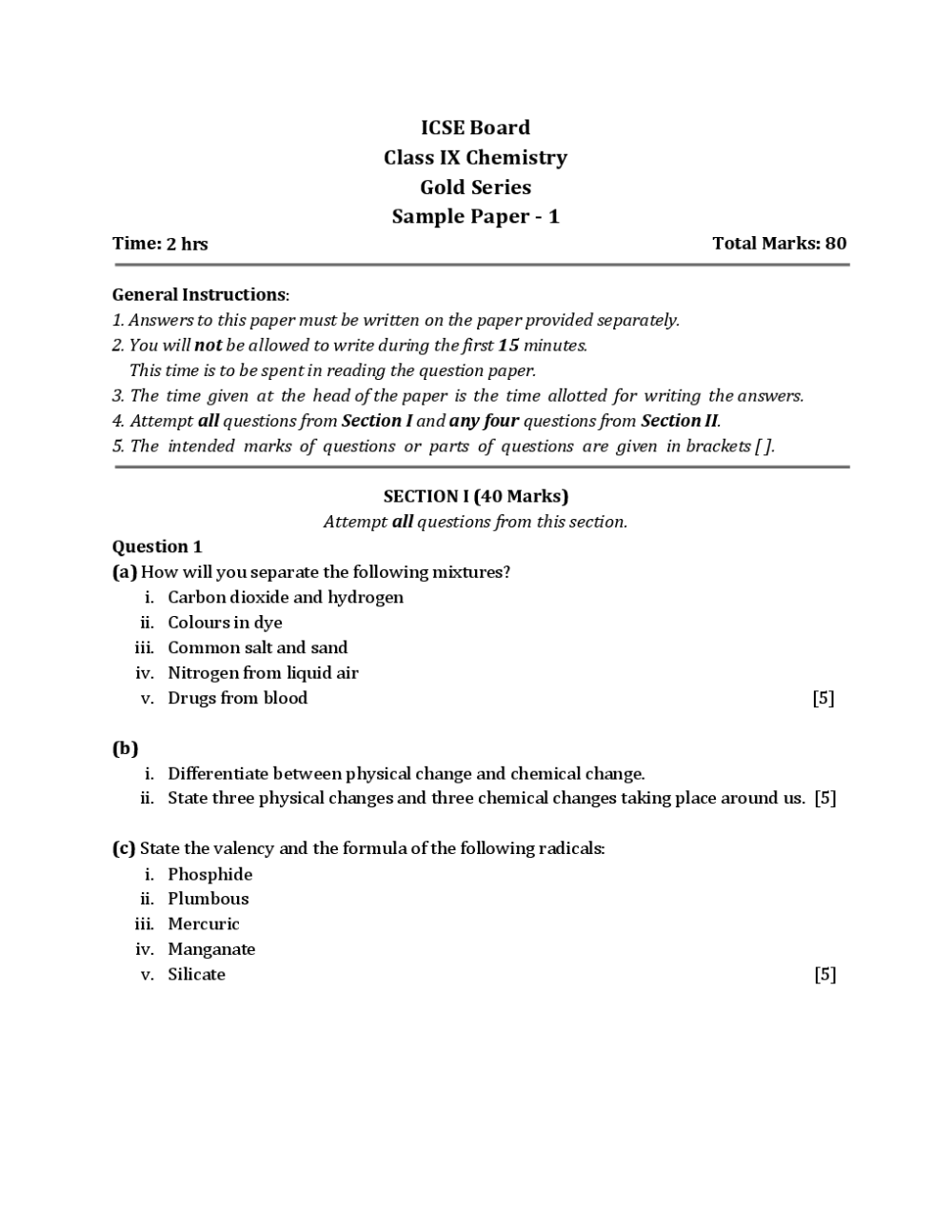 medium resolution of Download ICSE Class 9 Question Paper PDF Online 2020.