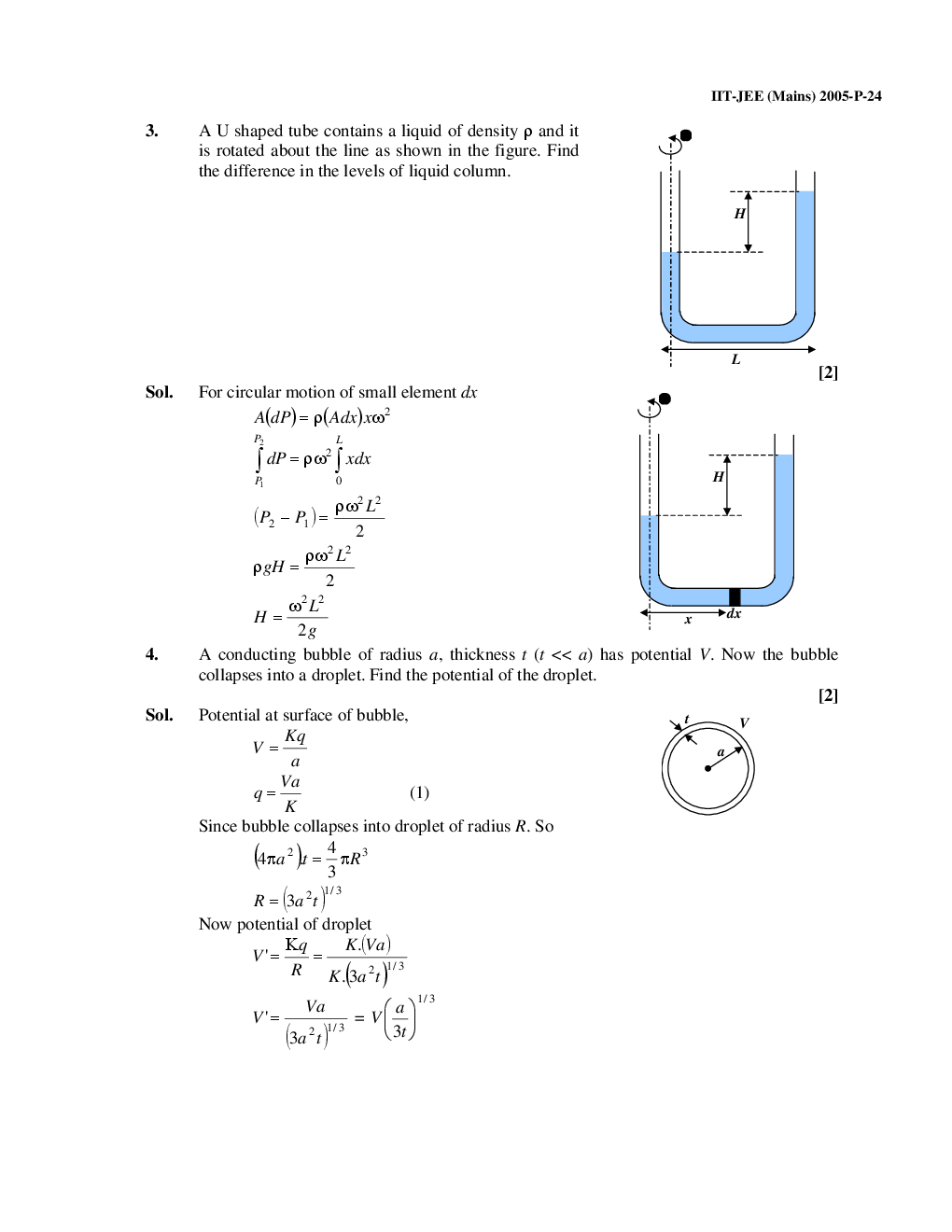Download IIT-JEE Main Solved Question Papers (Physics