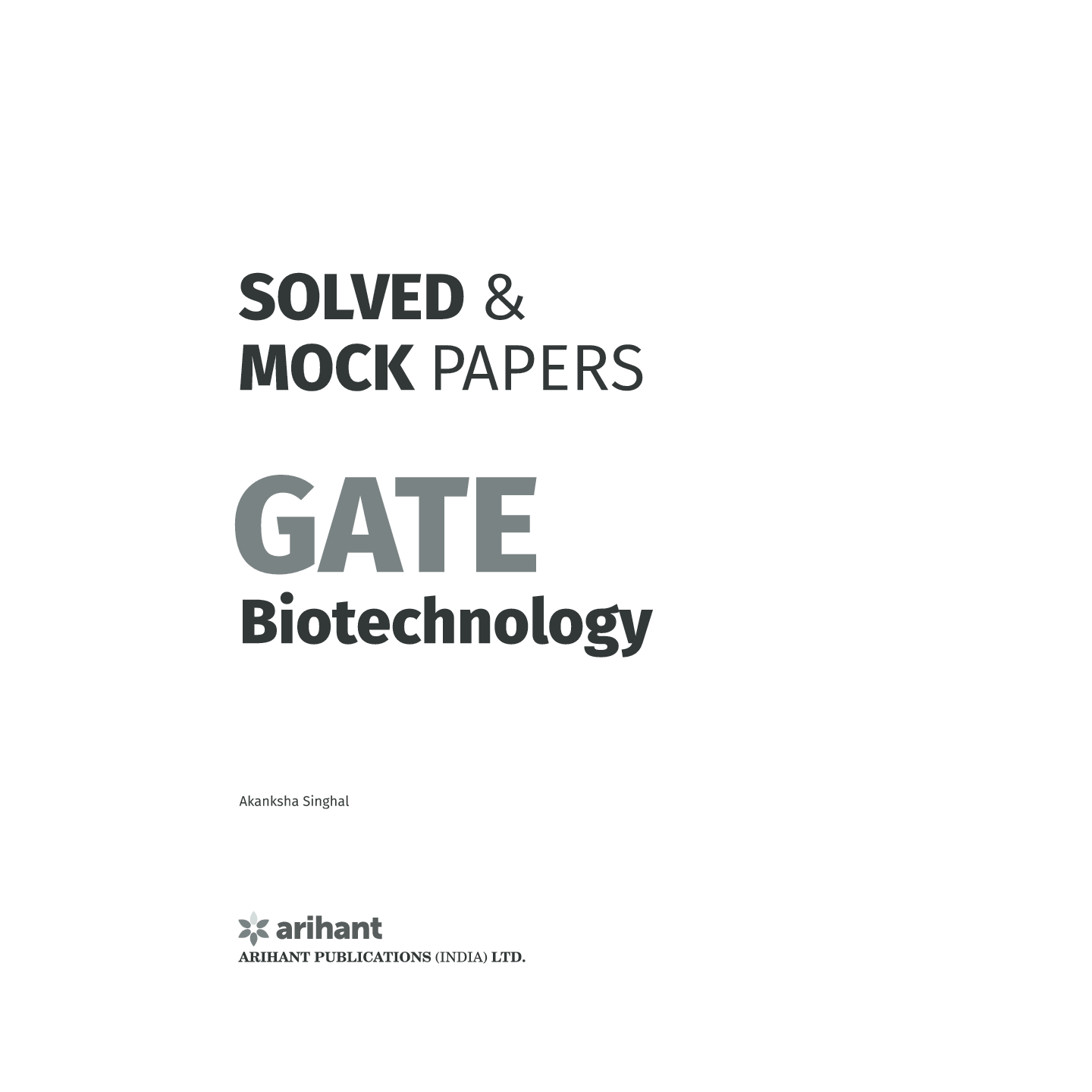 Download Solved and Mock Papers for GATE Biotechnology
