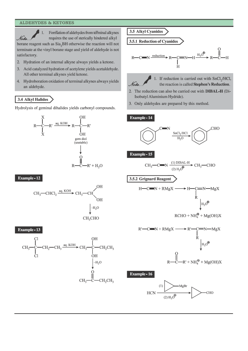 Download CBSE Class 12 Chemistry Revision Notes Aldehydes