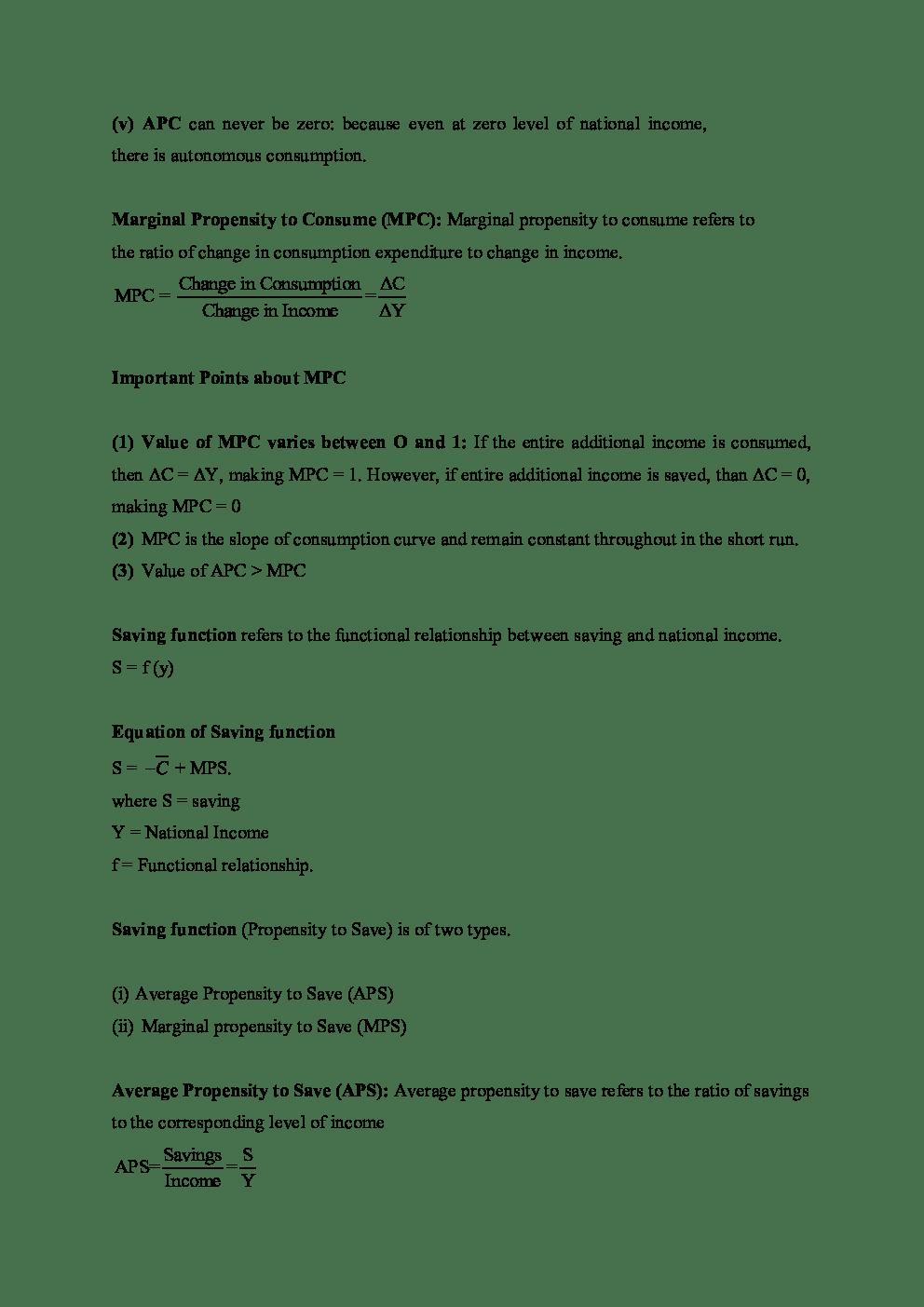 Download CBSE Class 12 Economics Revision Notes