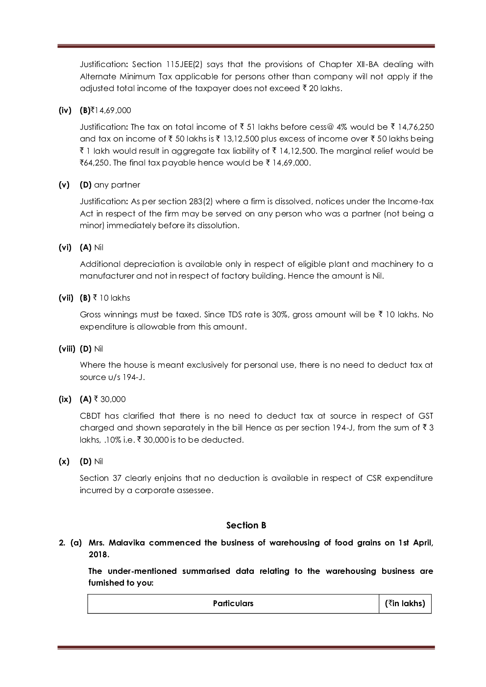 Download CMA FINAL Paper-4 Direct Tax Laws And