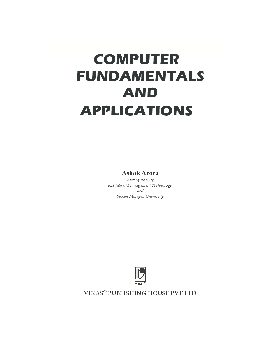 Download Computer Fundamentals And Applications by Ashok
