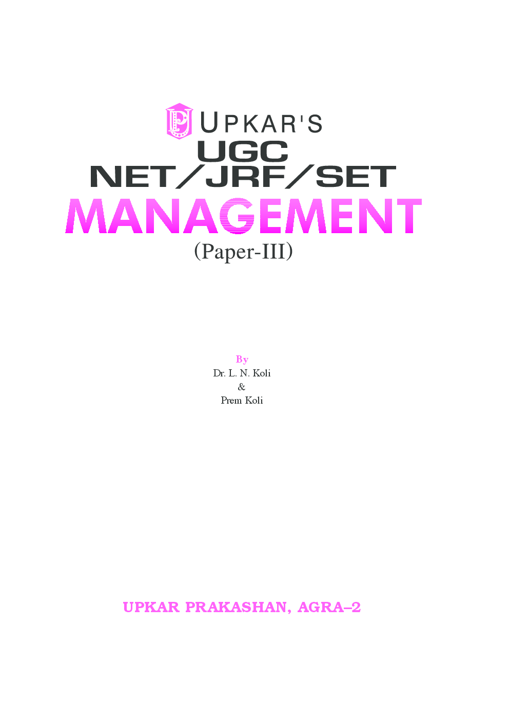 Download UGC NET/JRF/SET Management (Paper III) With
