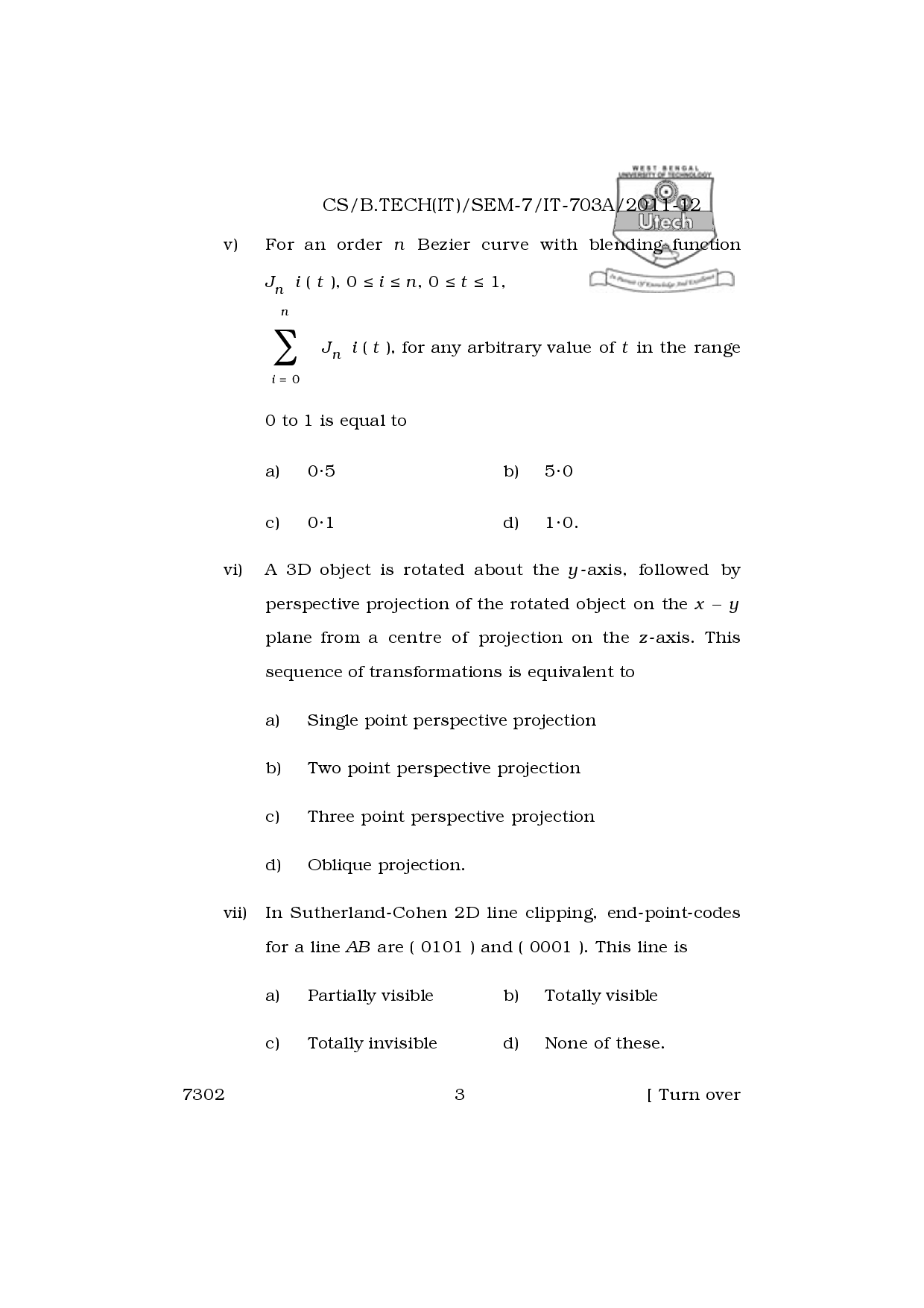 Download WBUT Information Technology Engineering 7th