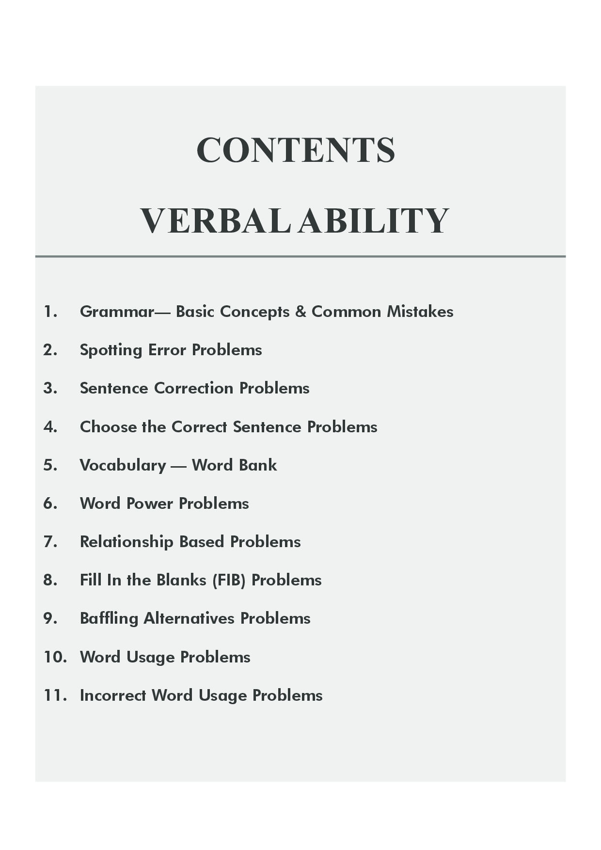Download Verbal Ability (Grammar And Vocabulary) for CAT