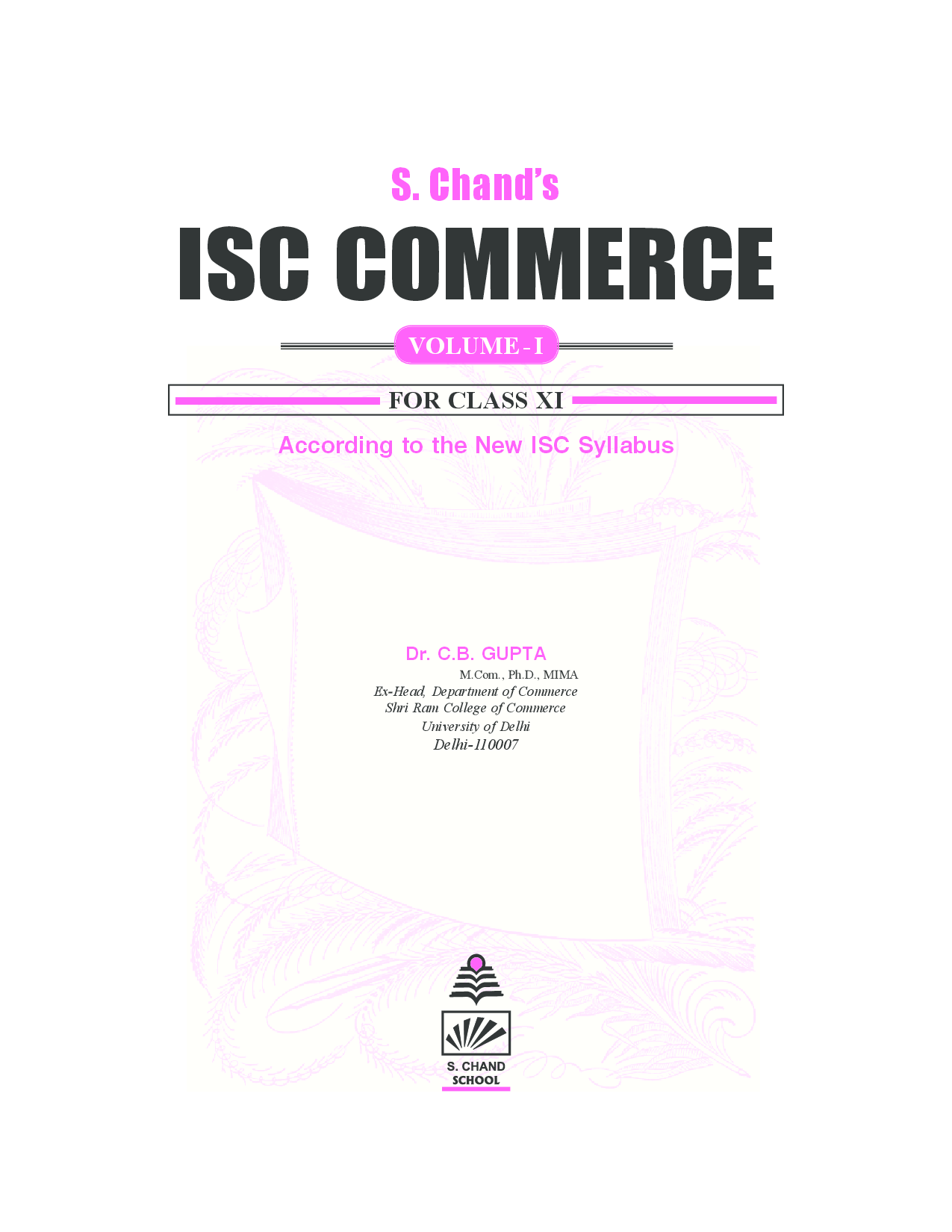 Download ISC Commerce For Class XI Vol I by C B Gupta PDF