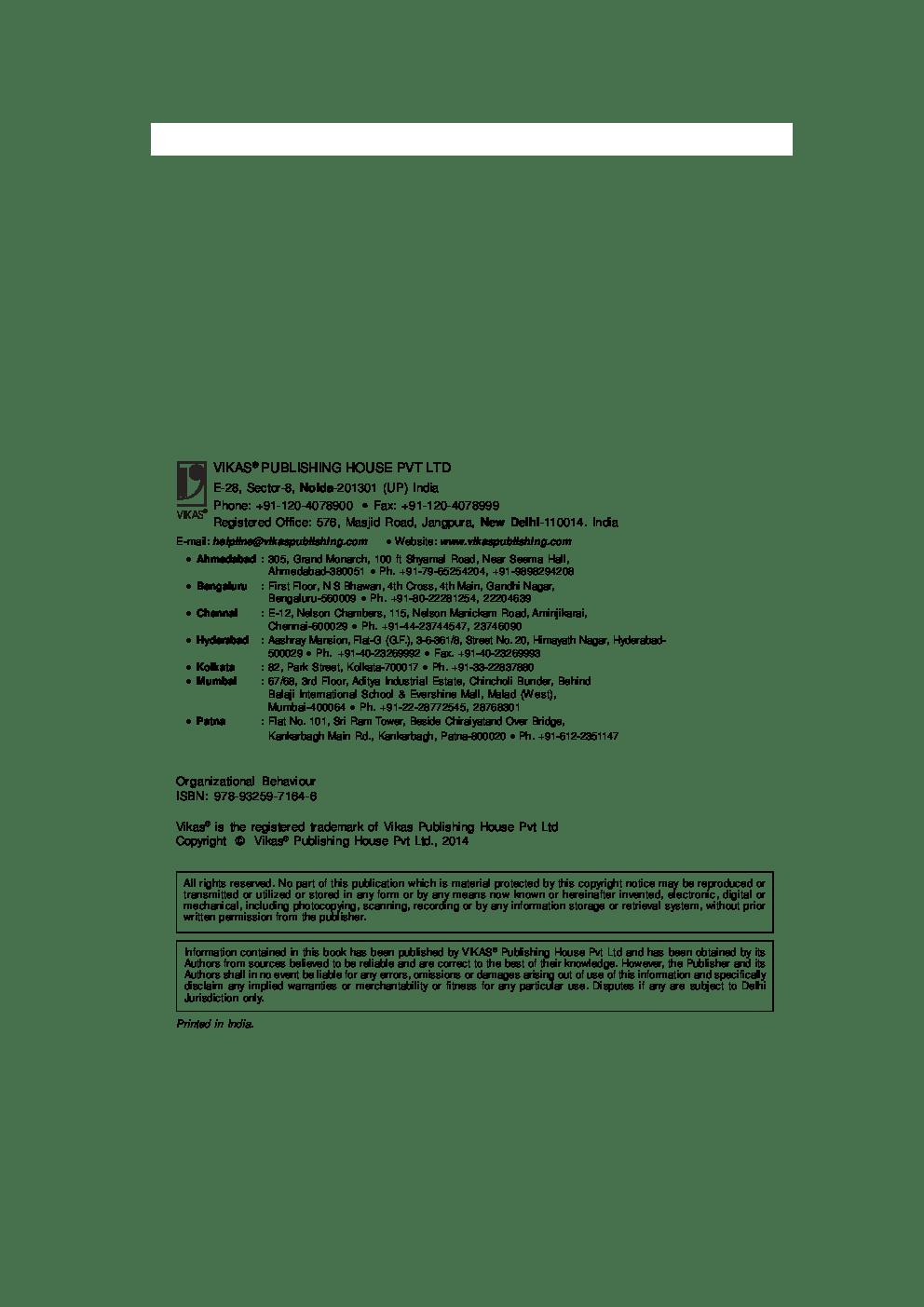 Download Organizational Behaviour by Jit S. Chandan PDF Online