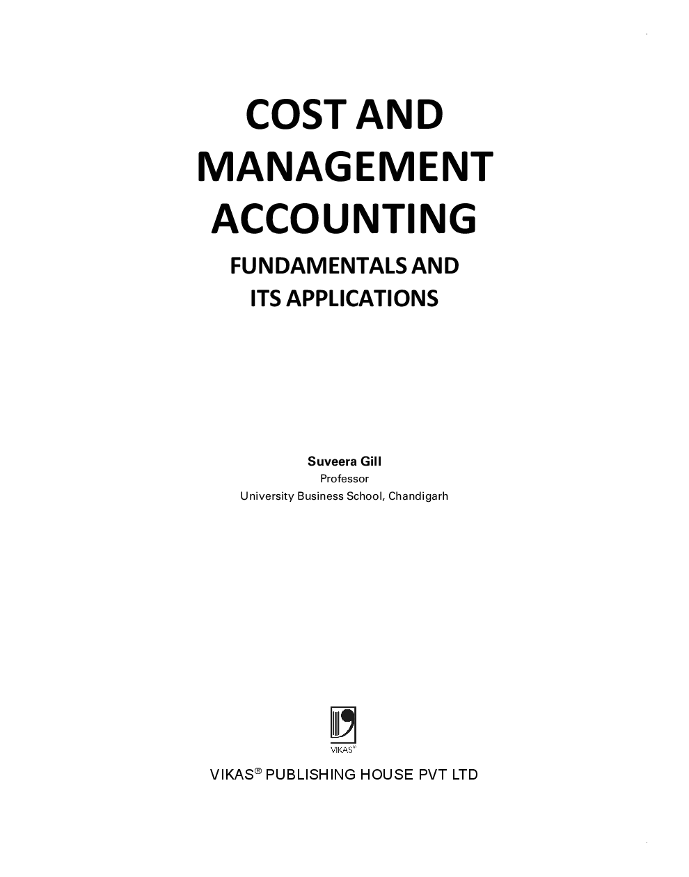 Download Cost And Management Accounting: Fundamentals And