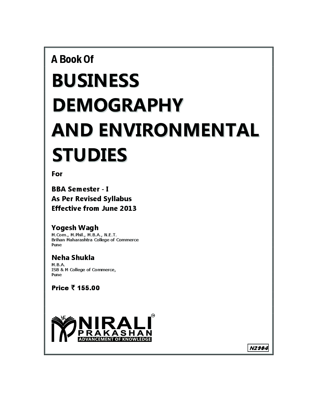 Download Business Demography & Environmental Studies by