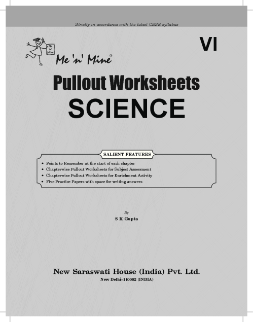 small resolution of Download CBSE Class 6 Science Me n Mine Pullout Worksheets PDF Online 2020