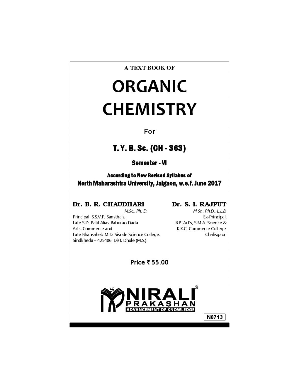 Download Organic Chemistry PDF Online by Dr. B. R