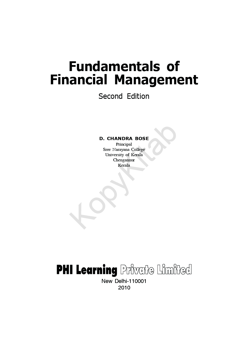 Download Fundamentals Of Financial Management by D