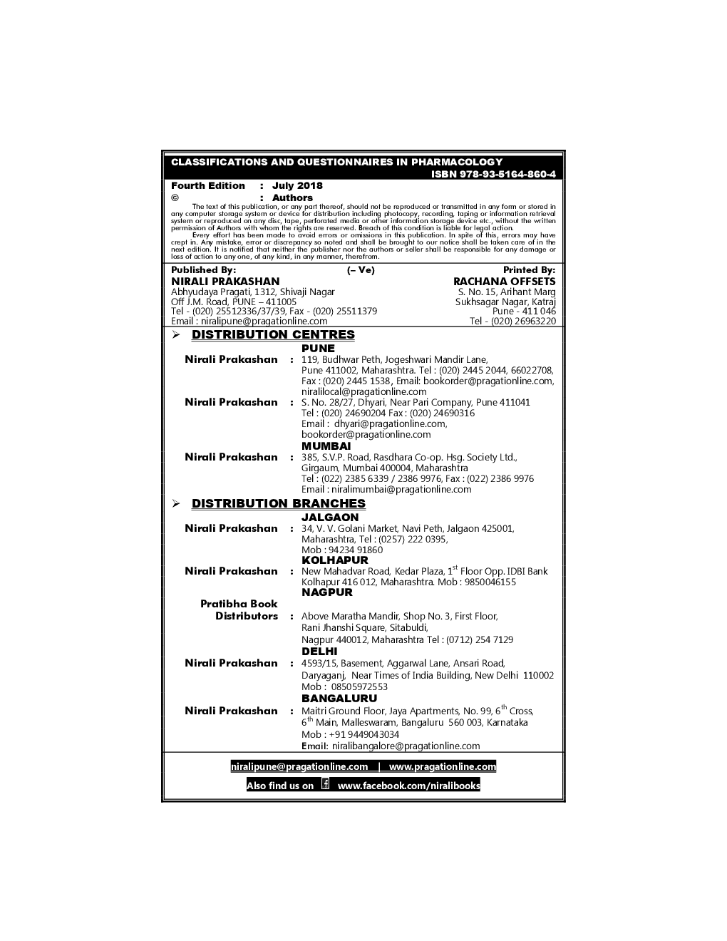 Download Classification & Questionnaires In Pharmacology