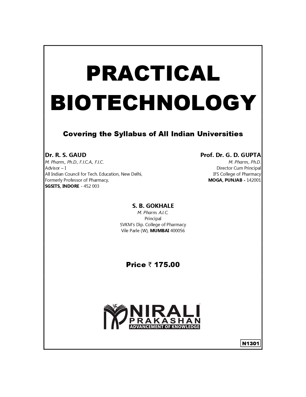 Download Practical Biotechnology by Dr. R. S. Gaud, Prof
