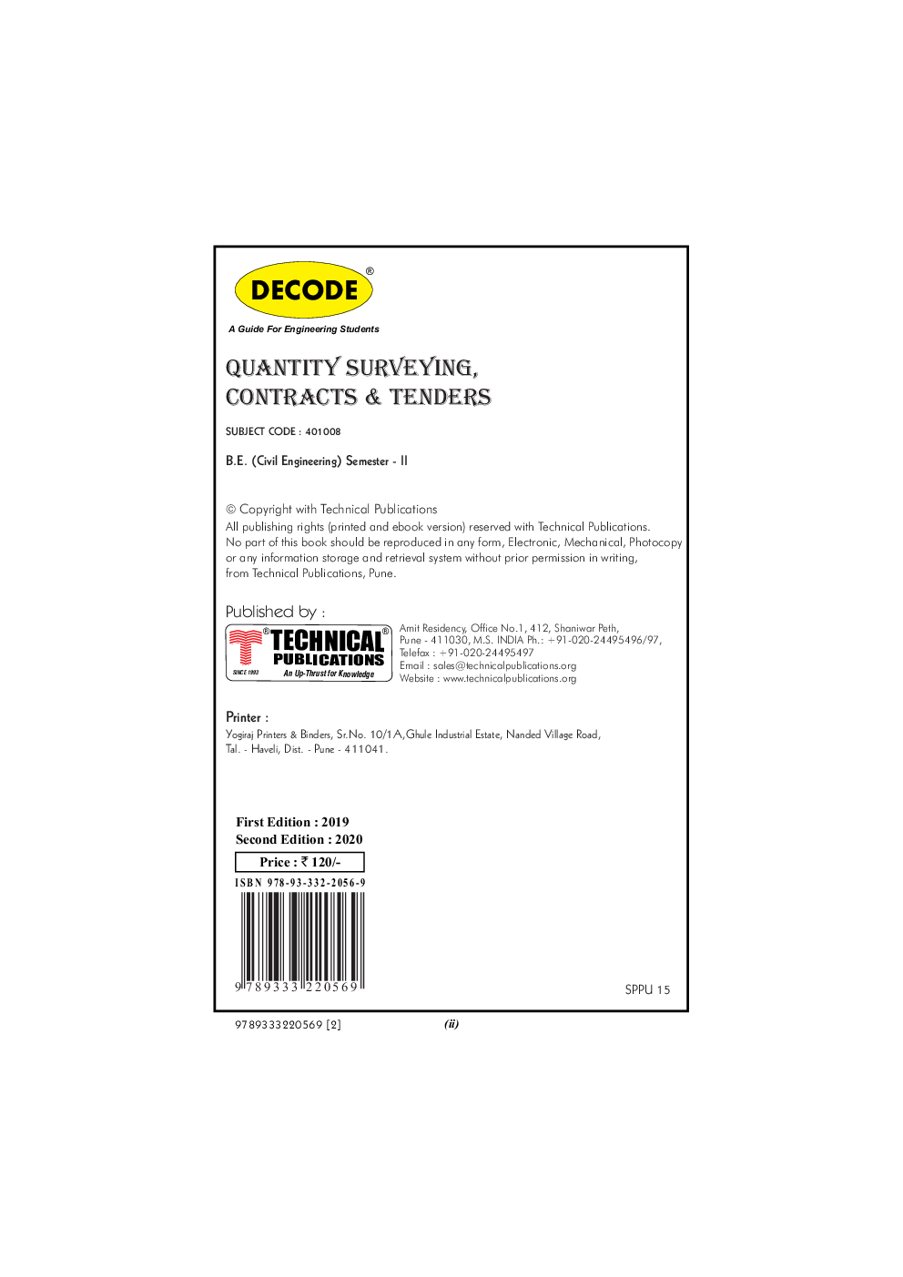 Download DECODE Quantity Surveying, Contracts & Tenders