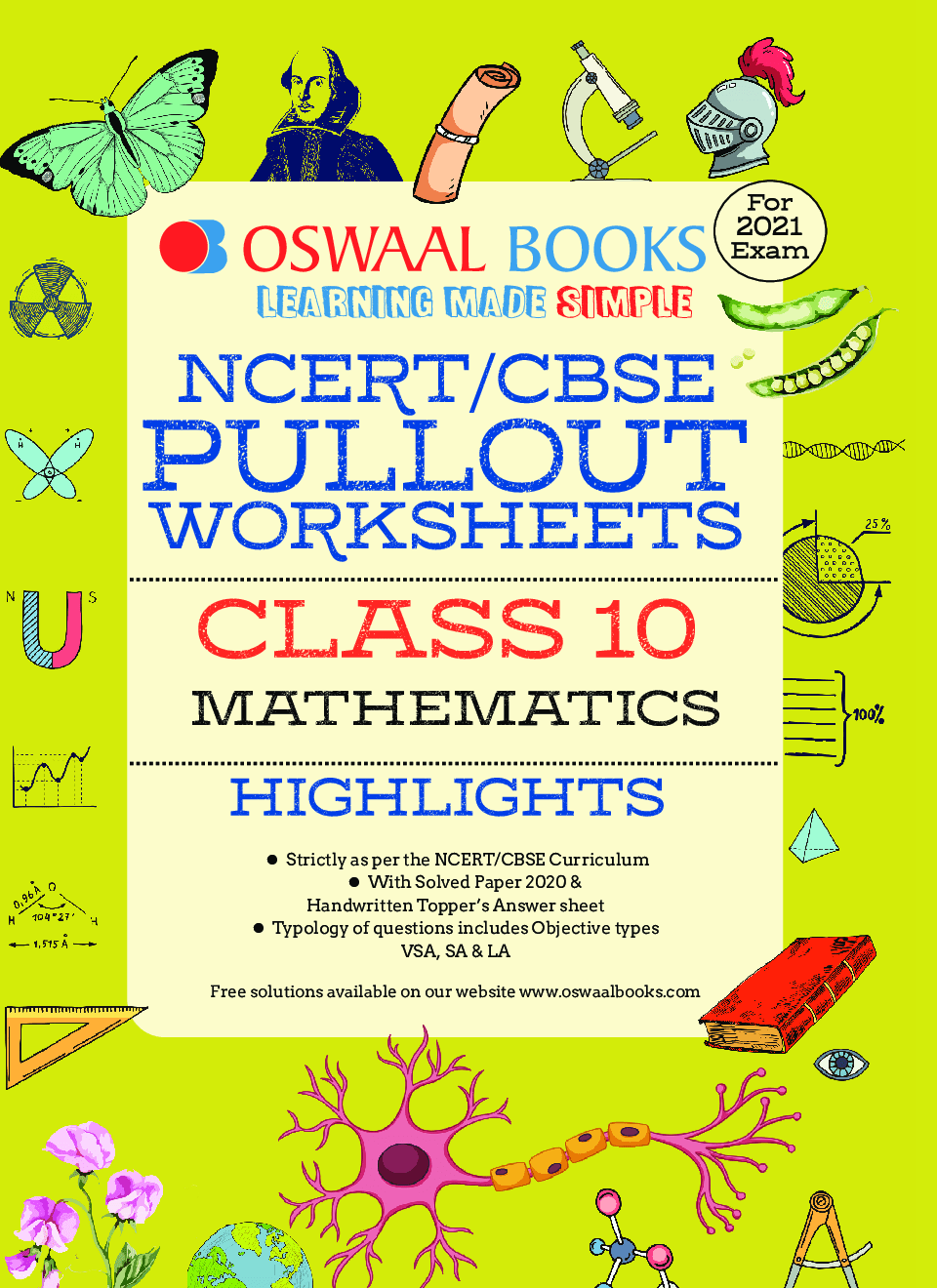 hight resolution of Download Oswaal NCERT \u0026 CBSE Class 10 Mathematics Pullout Worksheets PDF  Online 2020-21